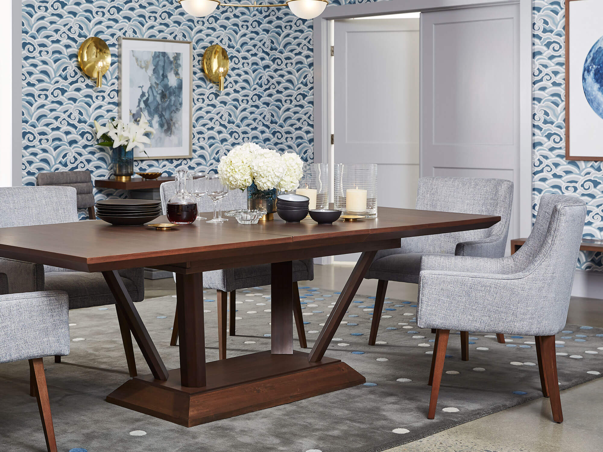 Boulevard Extension Dining Table, Palliser Dining Room Furniture